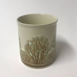 Vintage Japan Tree Embossed Coffee Tea Mug